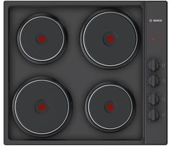 BOSCH PEE686CA1 Electric Solid Plate Hob - Black
