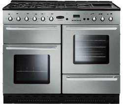 RANGEMASTER Toledo 110 Dual Fuel Range Cooker - Stainless Steel & Chrome