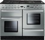 RANGEMASTER Toledo 110 Dual Fuel Range Cooker - Stainless Steel & Chrome