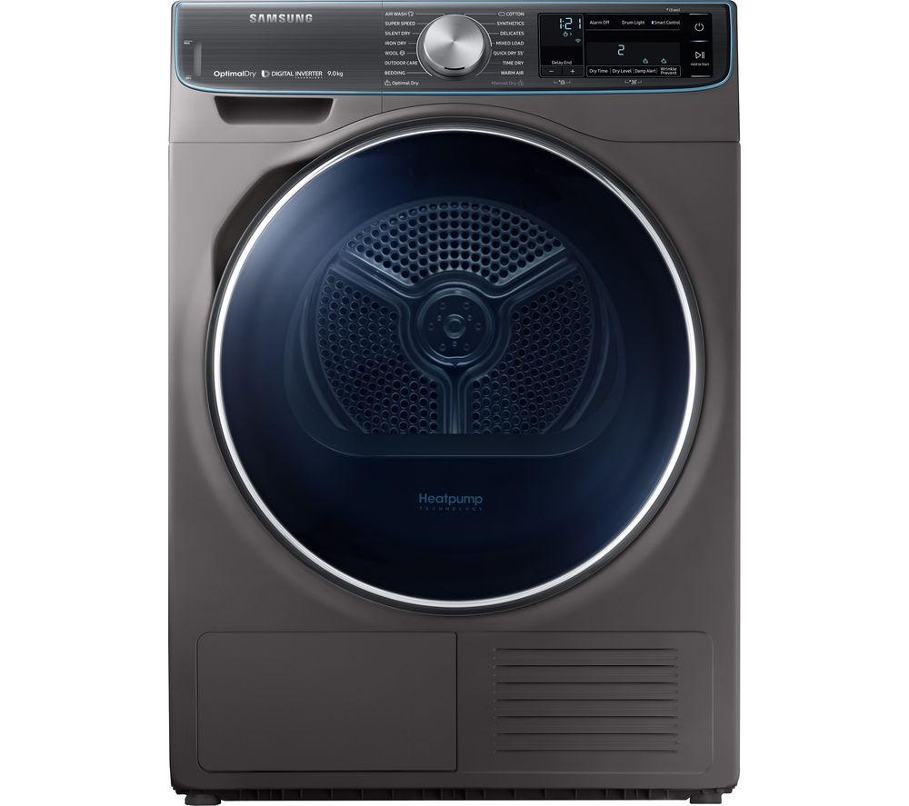 SAMSUNG DV90N8288AX Smart 9 kg Heat Pump Tumble Dryer - Graphite