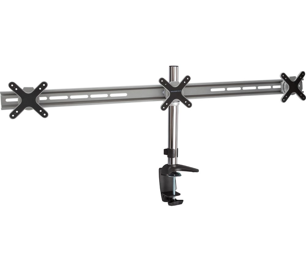 PROPER AV Premium PB110 Double / Triple Monitor Desk Mount