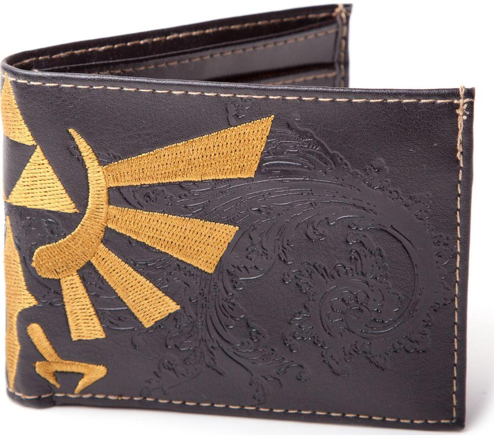 NINTENDO Zelda Wingcrest Logo Bifold Wallet - Black