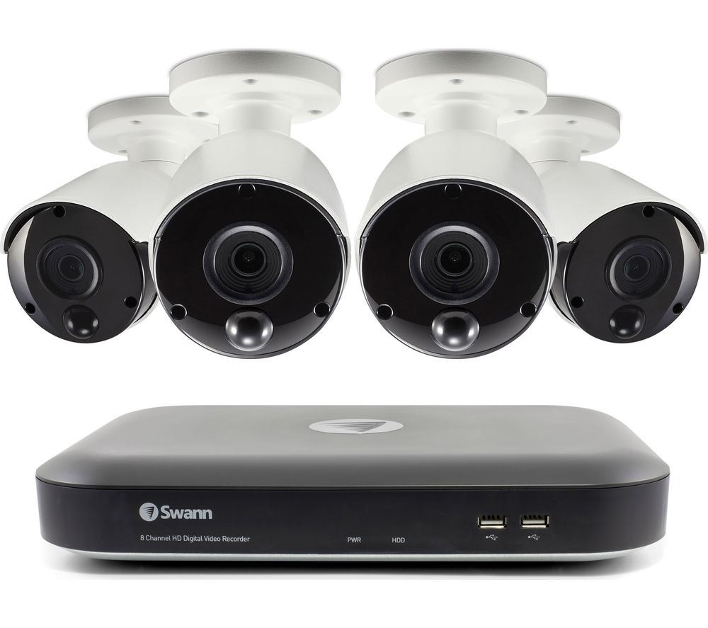 SWANN SWDVK-849804-UK 8-Channel 5 MP Smart Security System - 4 Cameras