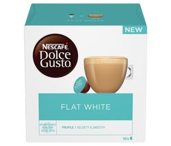 NESCAFE Dolce Gusto Flat White Coffee Pods - Pack of 16