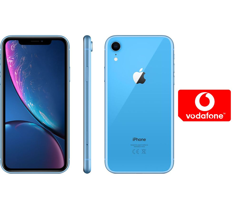 APPLE iPhone XR & Pay As You Go Micro SIM Card Bundle - 256 GB, Blue, Blue cheapest retail price