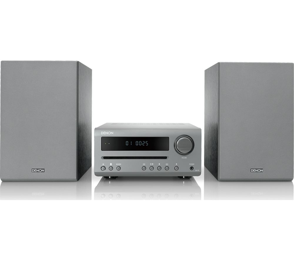DENON DT-1 Bluetooth Traditional Hi-Fi System - Grey