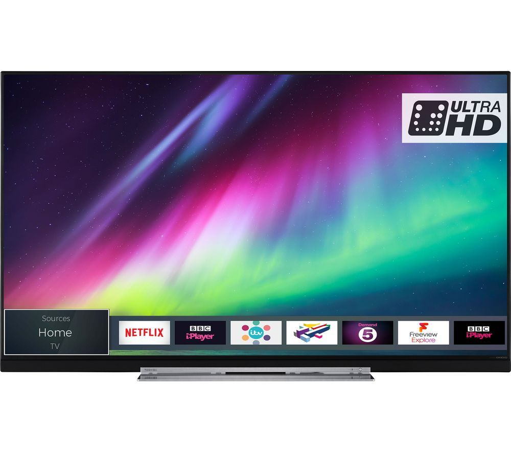 "49""  TOSHIBA 49U7863DB  Smart 4K Ultra HD HDR LED TV, Gold"
