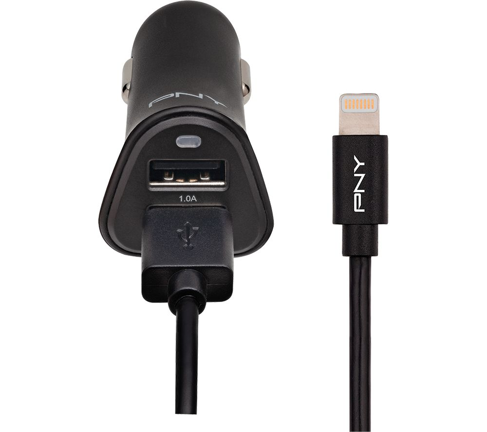 PNY Lightning Car Charger - 1.2 m