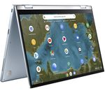£399, ASUS Flip C433 14inch 2 in 1 Chromebook - Intel® Core™ m3, 64 GB eMMC, Silver, Chrome OS, Intel® Core™ m3-8100Y Processor, RAM: 4GB / Storage: 64GB eMMC, Full HD screen, Battery life:Up to 10 hours,