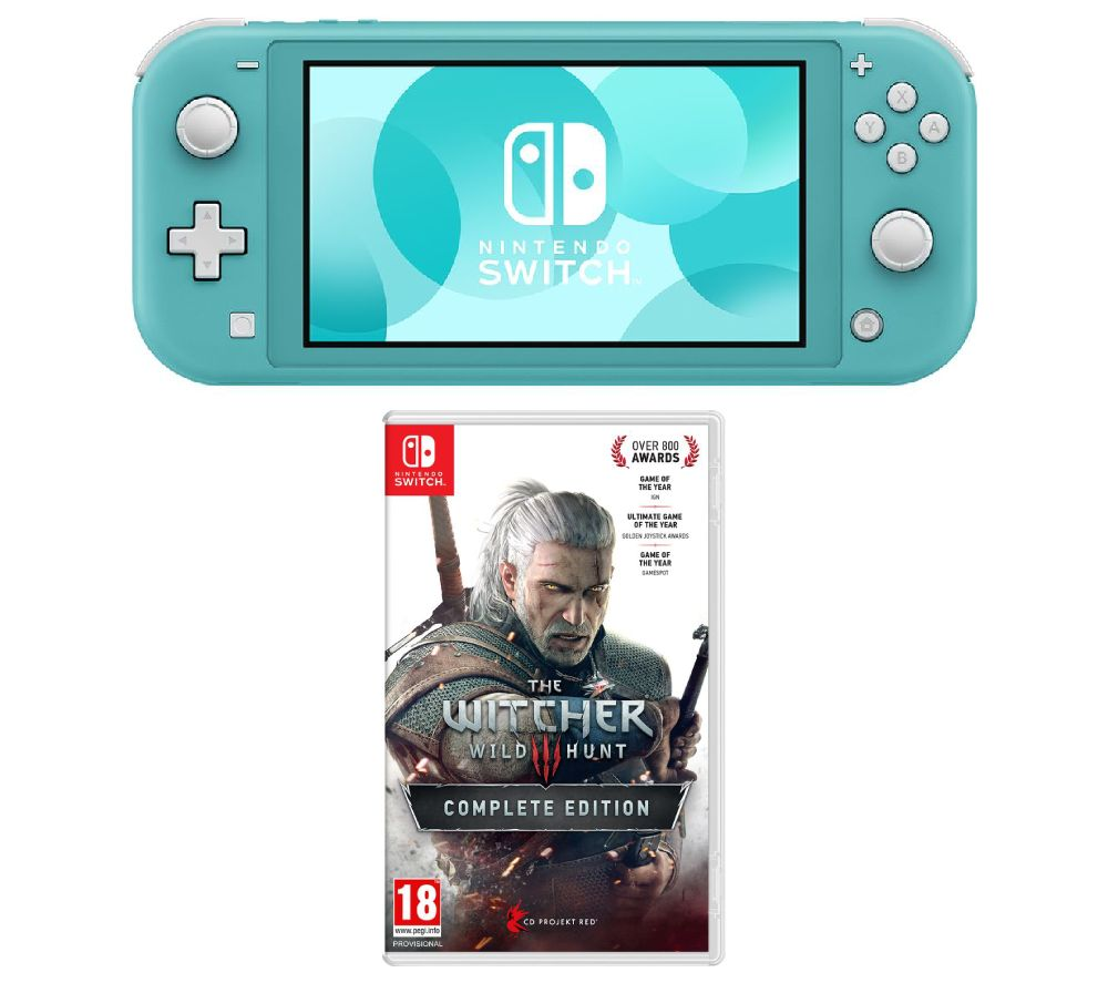 NINTENDO Switch Lite & The Witcher 3: Wild Hunt Bundle - Turquoise