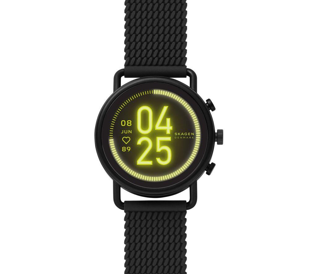 Image of SKAGEN Falster 3 SKT5202 Smartwatch - Black, Silicone Strap, 42 mm, Black