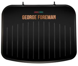 Image of GEORGE FOREMAN 25811 Medium Fit Grill - Black & Copper
