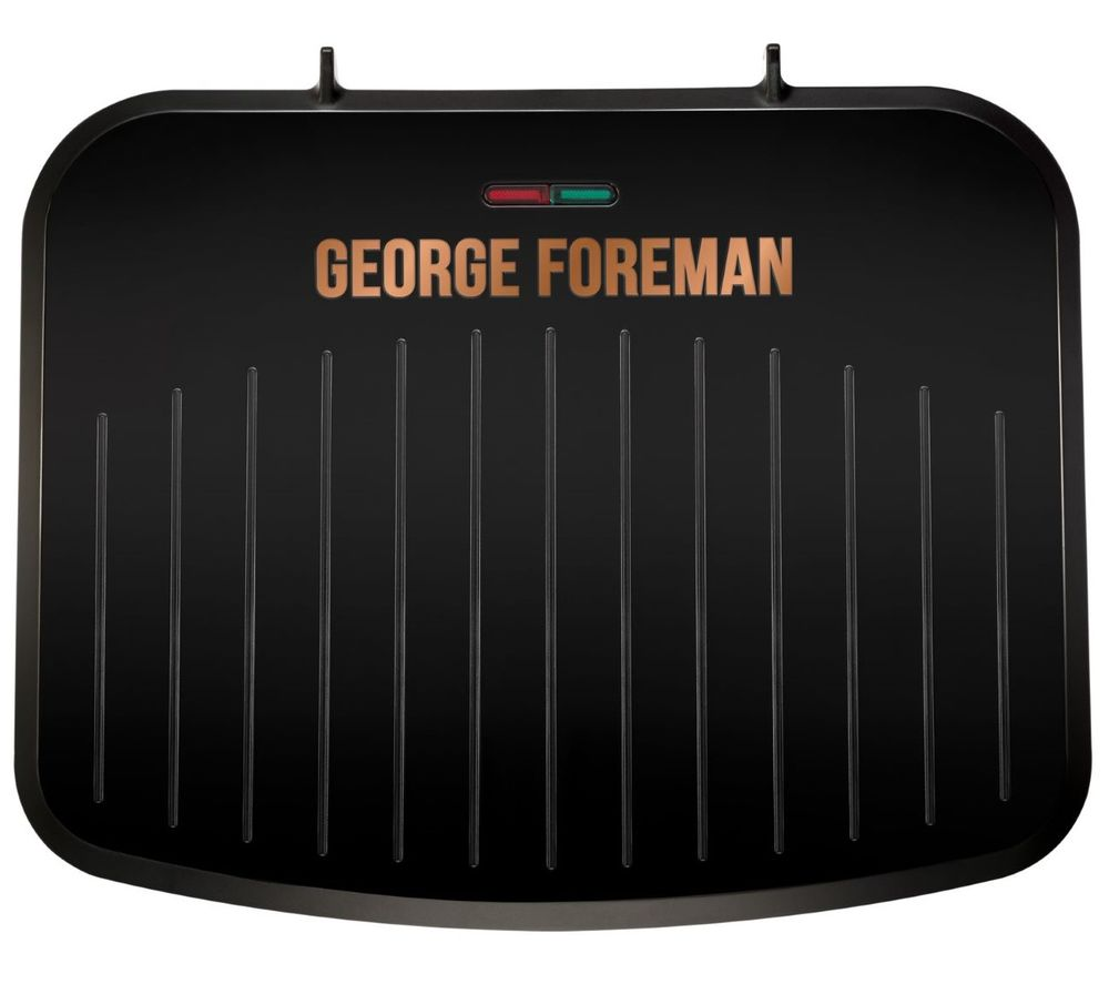 Image of GEORGE FOREMAN 25811 Medium Fit Grill - Black & Copper, Black