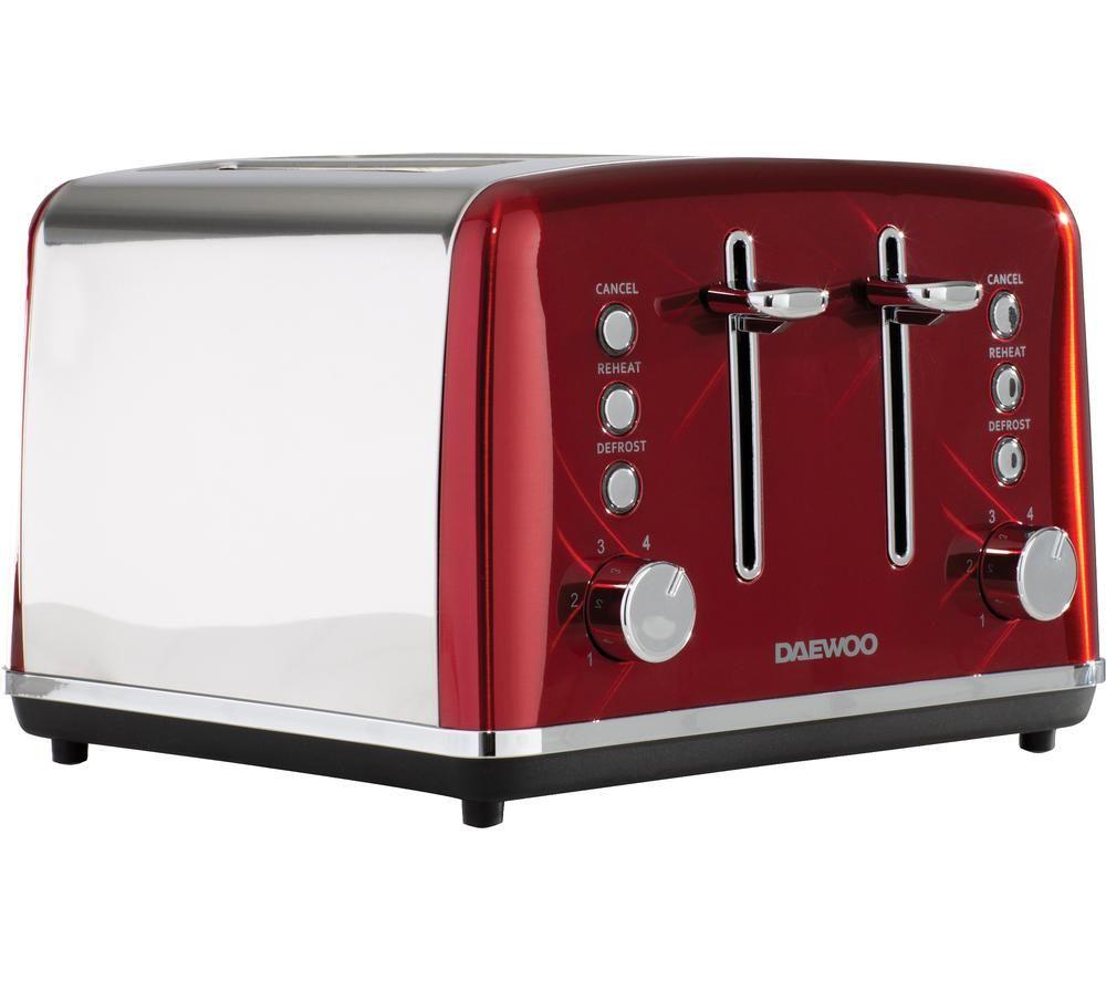 DAEWOO Kensington SDA1587 4-Slice Toaster - Red