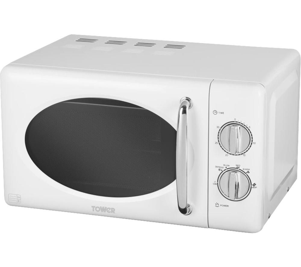 TOWER T24017 Solo Microwave - White