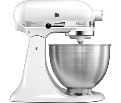 Classic 5K45SSBWH Stand Mixer - White
