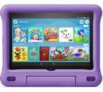 £140, AMAZON Fire HD 8inch Kids Edition Tablet (2020) - 32 GB, Purple, Fire OS 7, HD Ready screen, 32GB storage: Perfect for apps / photos / videos, Battery life: Up to 12 hours, Add more storage with a microSD card,