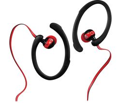 Sports Series VS203BKR Earphones - Red & Black