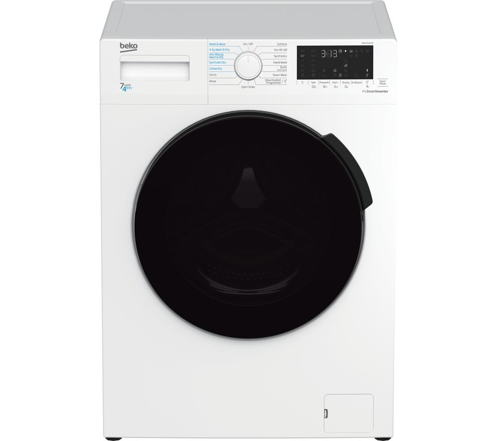 BEKO WDK742421W Bluetooth 7 kg Washer Dryer - White
