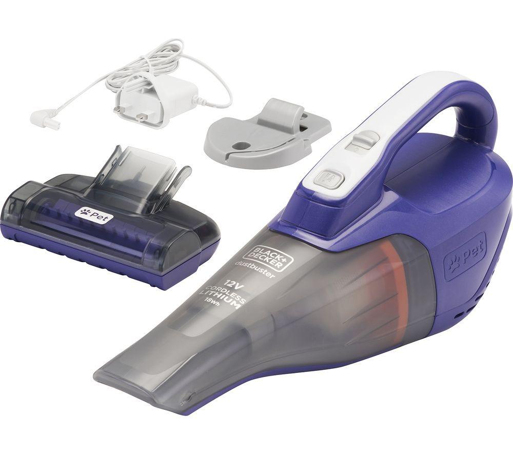 BLACK DECKER Pet Dustbuster DVB315JP-GB Handheld Vacuum Cleaner - Purple & Grey, Black