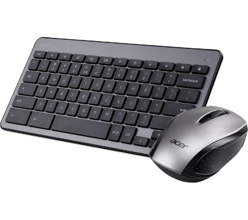 ACER AAK970 Chrome Wireless Keyboard & Mouse Set