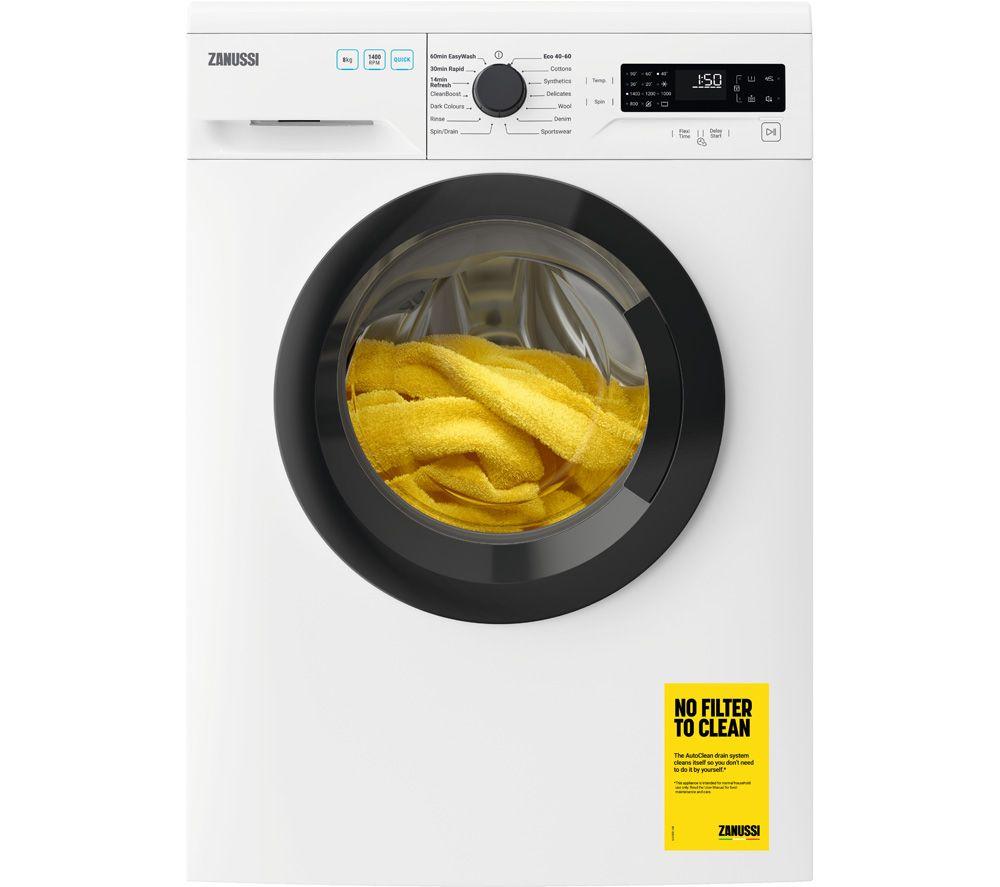 ZANUSSI ZWF845B4DG 8 kg 1400 Spin Washing Machine - White
