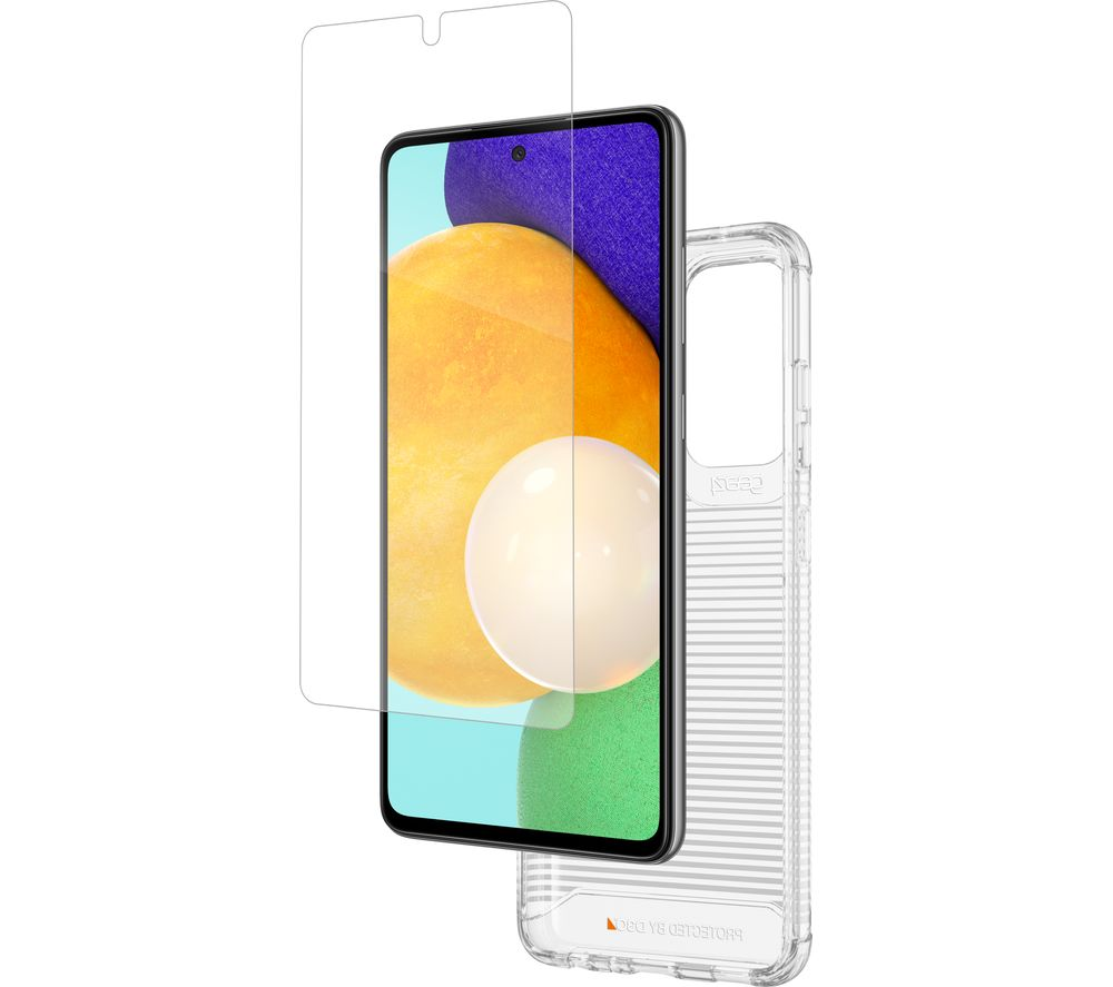 GEAR4 Havana Galaxy A52 5G Case & InvisibleShield Screen Protector Bundle - Clear