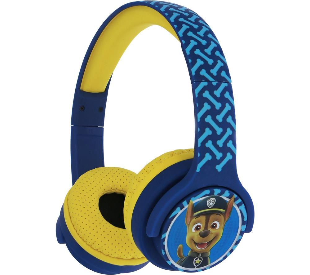 OTL PAW724 Paw Patrol Wireless Bluetooth Kids Headphones - Chase