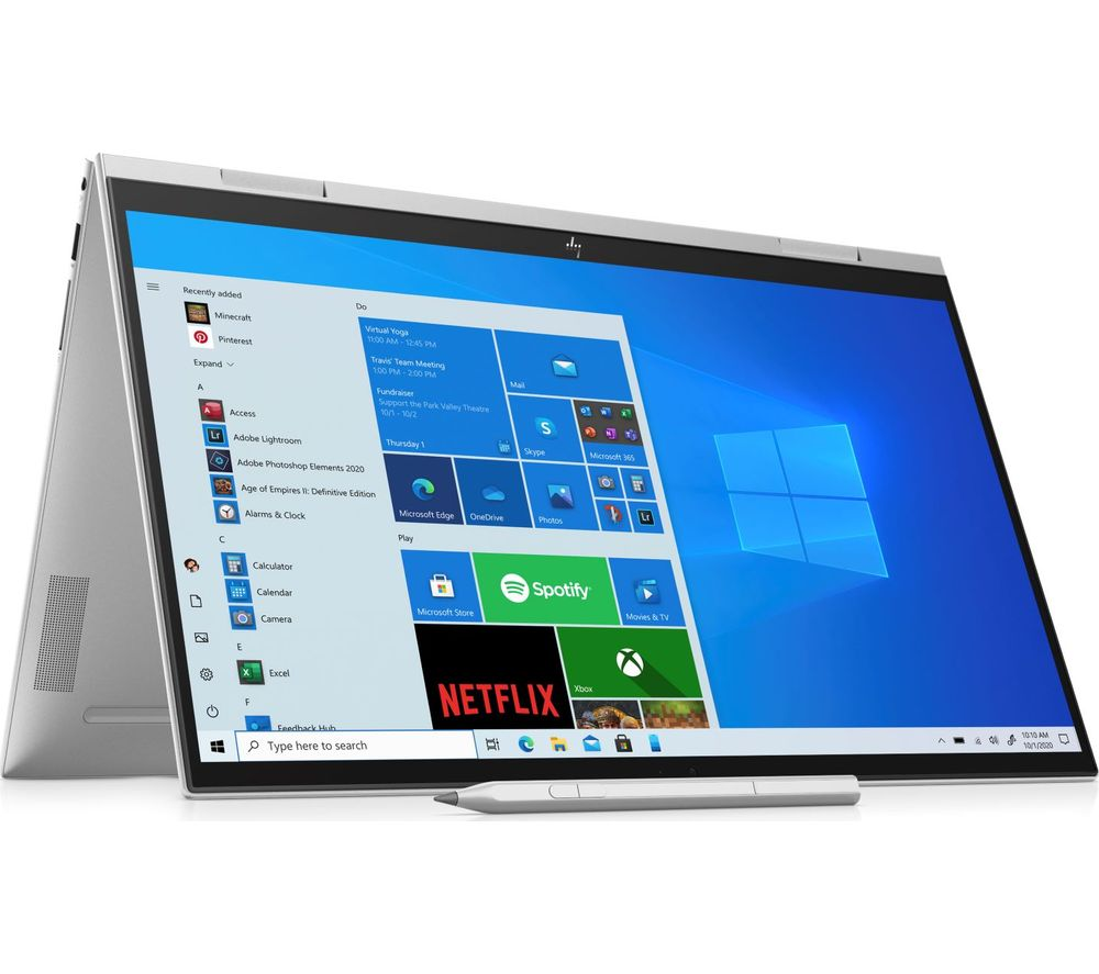 """Image of HP ENVY x360 Convert 15.6"""" 2 in 1 Laptop - Intel®Core™ i7, 512 GB SSD, Silver, Silver"""