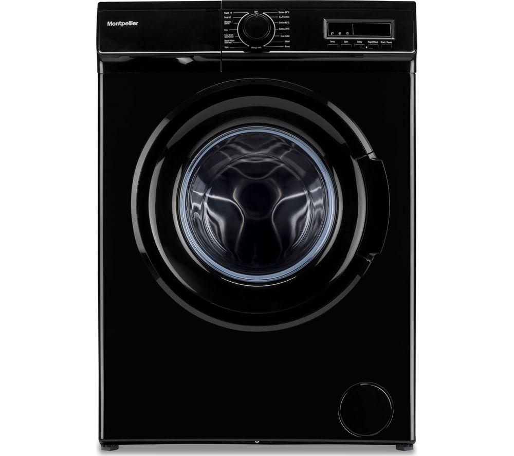 MONTPELLIER MW7141K 7 kg 1400 Spin Washing Machine - Black, Black