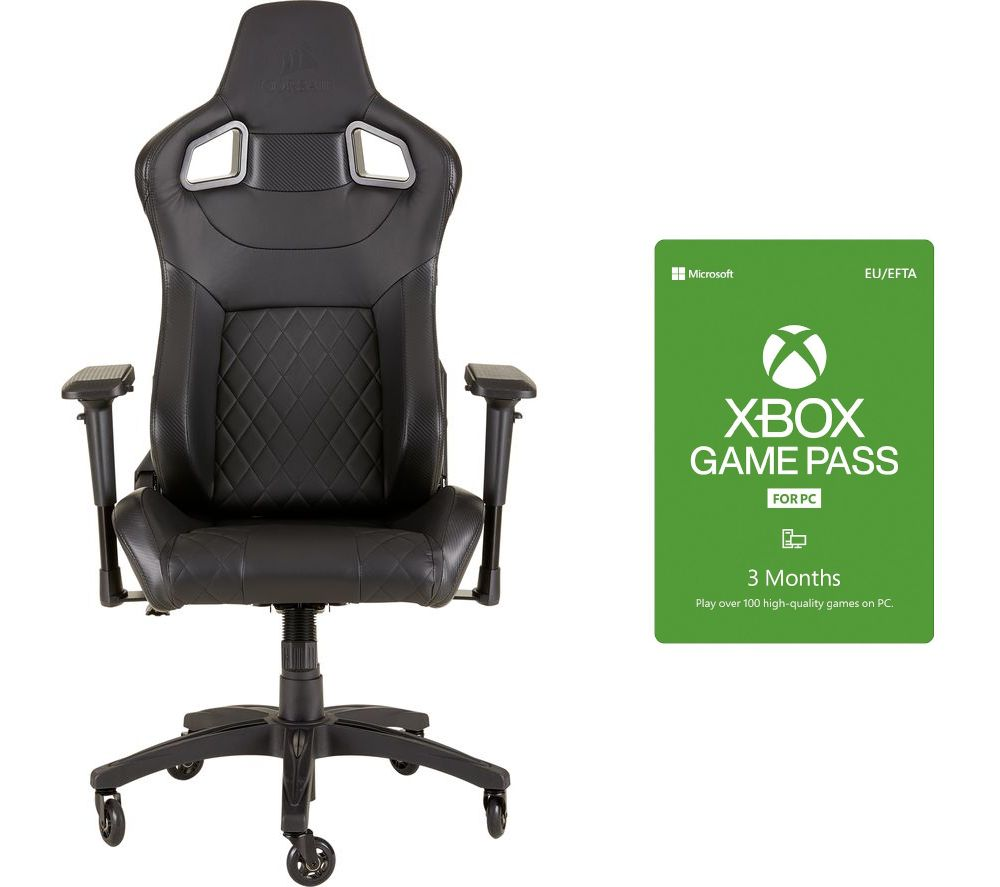 CORSAIR T1 Race Gaming Chair & 3 Month Xbox Game Pass for PC Bundle
