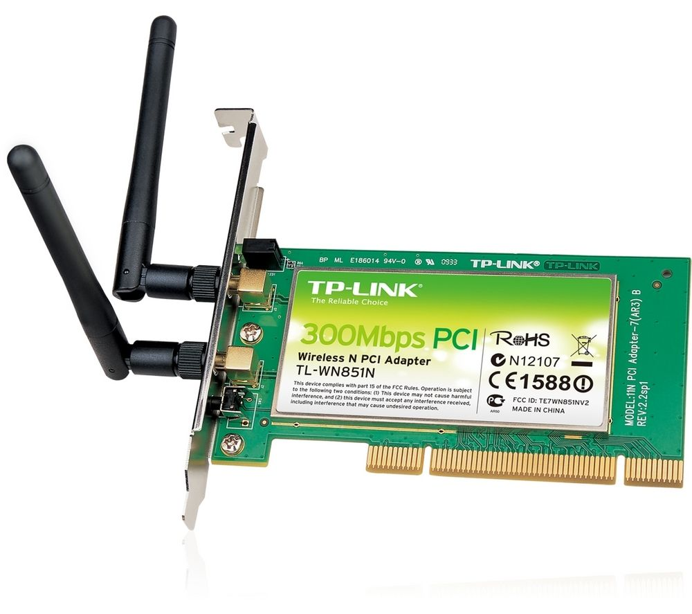 TP-LINK TL-WN851N Wireless-N PCI Adapter