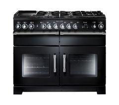 RANGEMASTER Excel 110 Dual Fuel Range Cooker - Black & Chrome