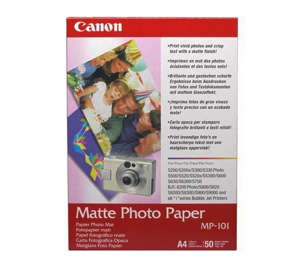 Compare retail prices of Canon A4 Matte Photo Paper 50 Sheets to get the best deal online