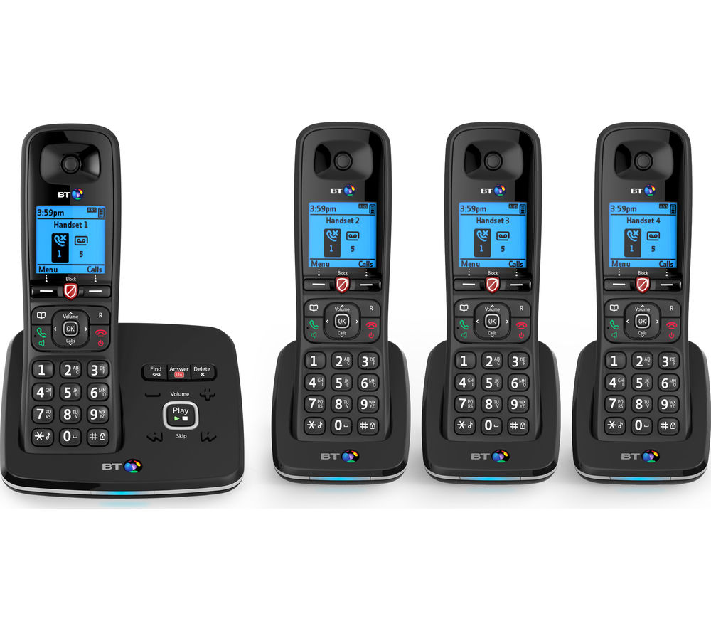 Image of BT 6610 Cordless Phone with Answering Machine - Quad Handsets