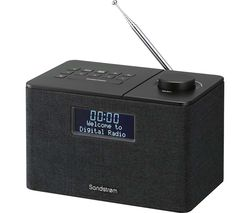 SANDSTROM SFSDAB17 Portable DAB+/FM Bluetooth Clock Radio - Black