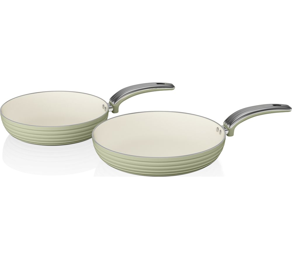 SWAN Retro 2-piece Non-stick Frying Pan Set - Green