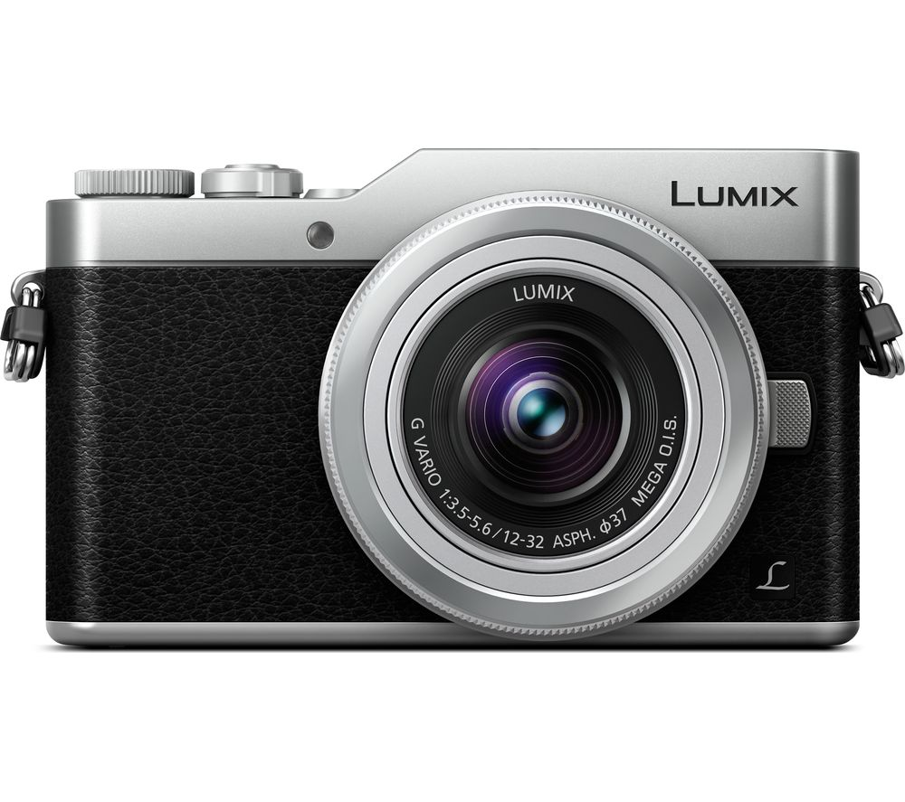 PANASONIC LUMIX DC-GX800 Mirrorless Camera with 12-32 mm f/3.5-5.6 Lens - Silver + Ultra Performance Class 10 microSDXC Memory Card - 64 GB