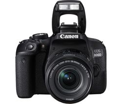 CANON EOS 800D DSLR Camera with 18-55 mm f/4-5.6 IS STM Lens - Black