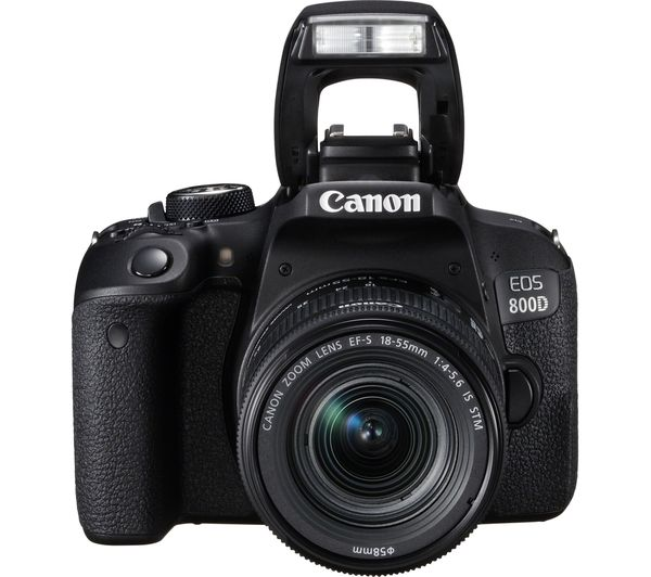 CANON EOS 800D DSLR Camera with EF-S 18-55 mm f/4-5 6 IS STM Lens