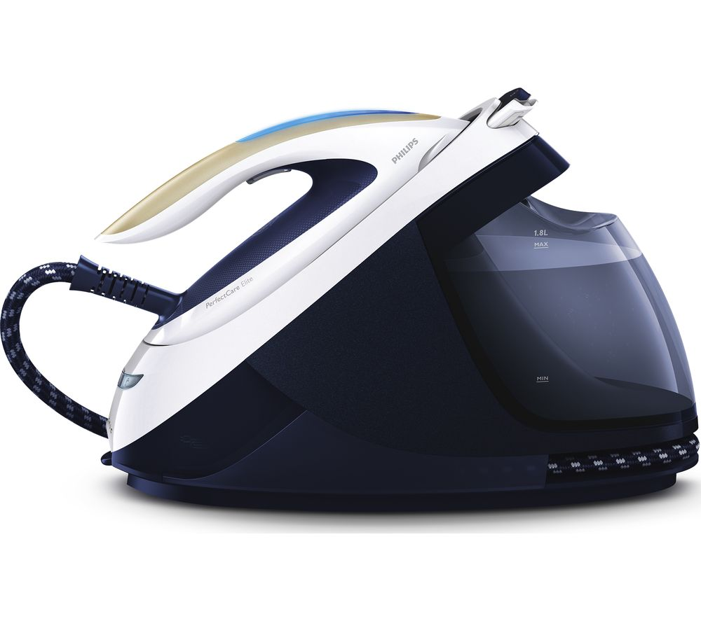 PHILIPS PerfectCare Elite GC9630/20 Steam Generator Iron - Navy & White