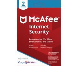 MCAFEE Internet Security 2018 - 1 user / 2 devices for 1 year