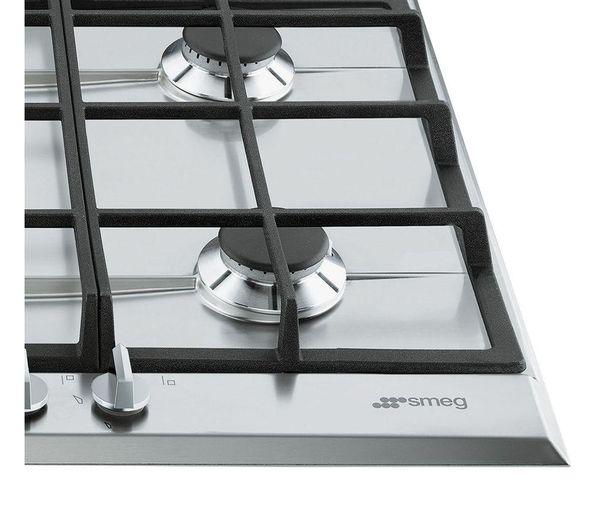 Cucina A Gas.Smeg Cucina P272xgh Gas Hob Stainless Steel