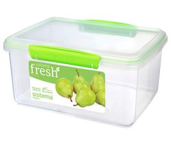 SISTEMA Fresh Rectangular 3 litre Container - Green