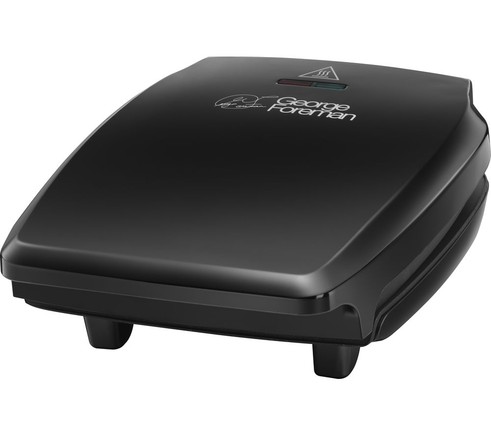 GEORGE FOREMAN 23410 Compact Grill - Black, Black