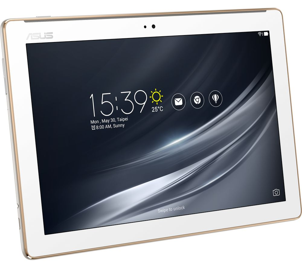ASUS ZenPad 10 Tablet - 32 GB, White + LiveSafe Premium 2018 - 1 year for unlimited devices + Cloud Storage for Tablets & Mobiles - 200 GB, 1 year
