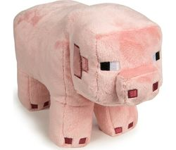 """MINECRAFT Pig Plush Toy with Hang Tag - 12"""", Pink"""