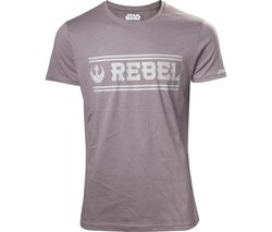 STAR WARS Rogue One Rebel Alliance T-Shirt - Small, Grey