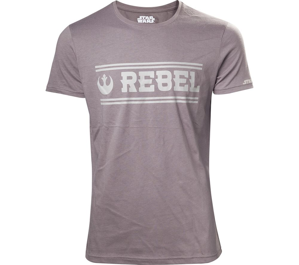 Compare prices for Star Wars Rogue One Rebel Alliance T-Shirt - Small - Grey