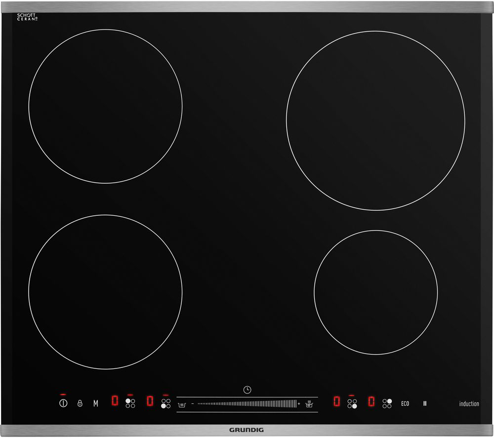 GRUNDIG GIEI624410HX Electric Induction Hob - Black, Black